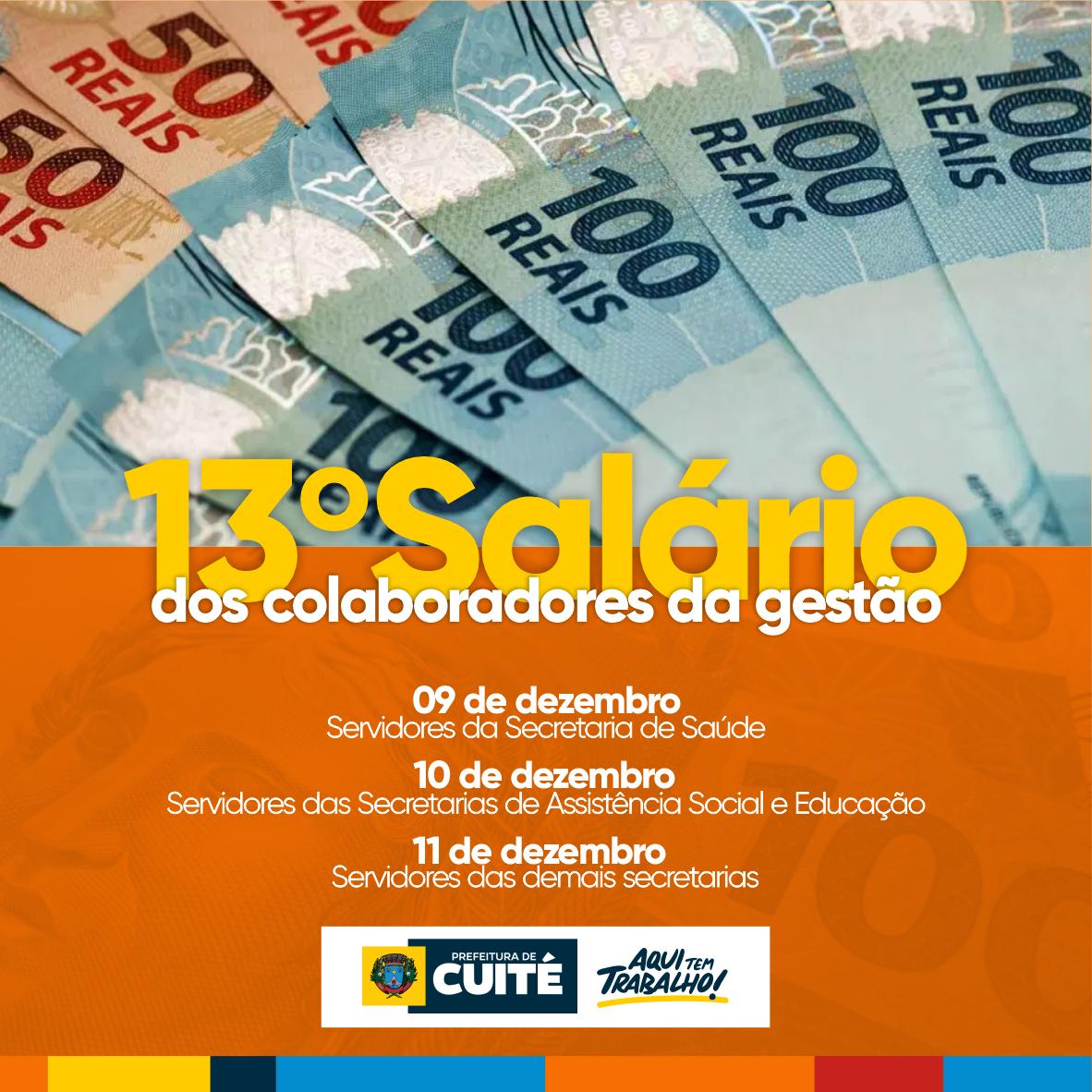 Prefeitura de Cuité paga 50% restante do 13º salário a partir desta quarta (09)