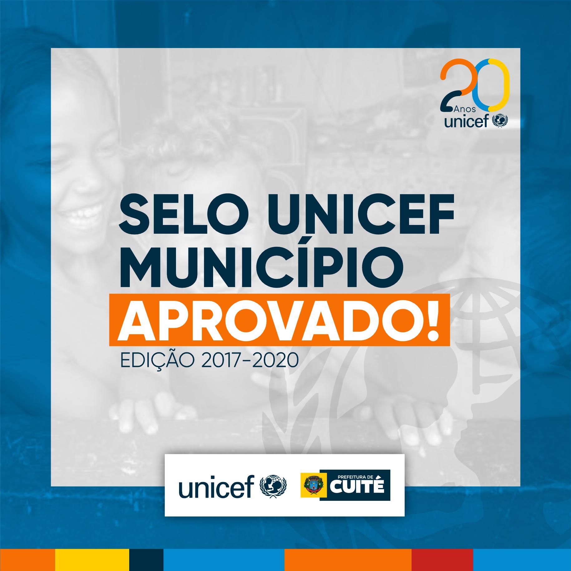 Cuité conquista Selo UNICEF 2017/2020